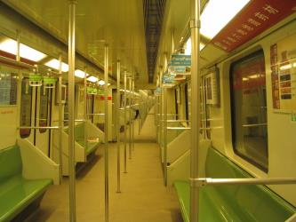 Interior of a Line 2 train