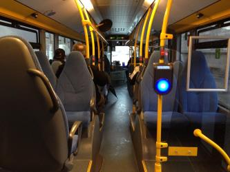 Interior of a Movia bus Denmark