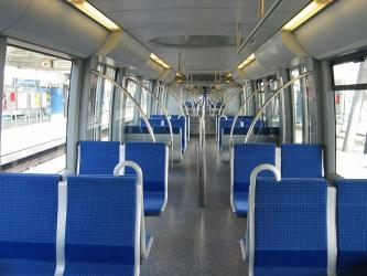 Seating on the U-Bahn C train
