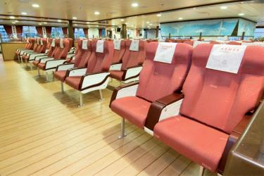 Seating on the superferry Volcan de Tijarafe