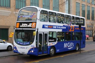 Double decker bus in Glasgow
