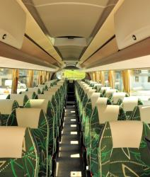 Cortina Express bus interior