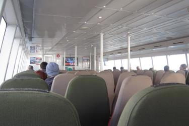 Interior of Rottnest Express