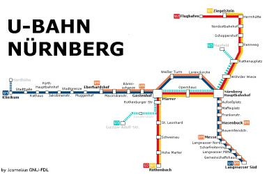 Nurnberg Metro Map