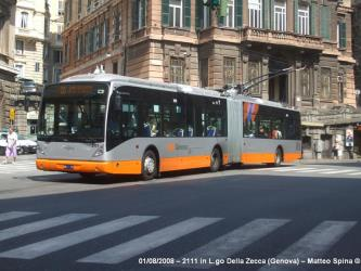 Articulated trolleybus in Genoa