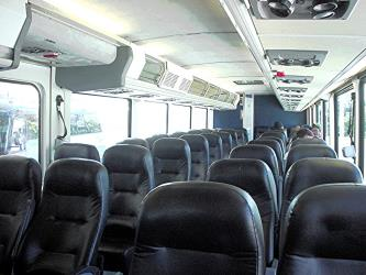 Greyhound interior