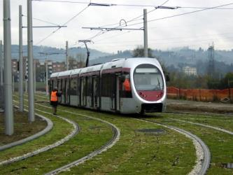 Florence tram front and side view