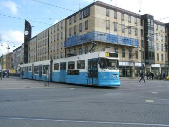 Tram in central Gothenburg