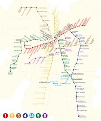 Map of Santiago metro
