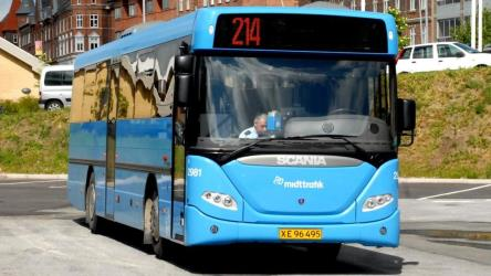 Regional bus service to and from Silkeborg