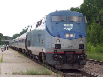 Amtrak Train at Saratoga