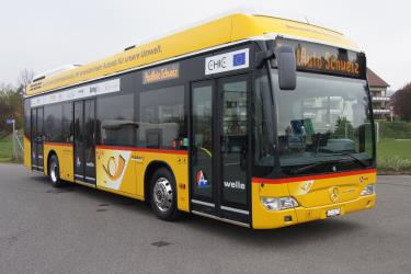 Swiss PostAuto Bus Exterior