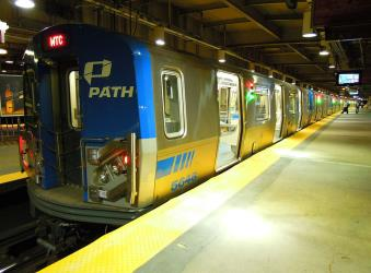 PATH train in Newark