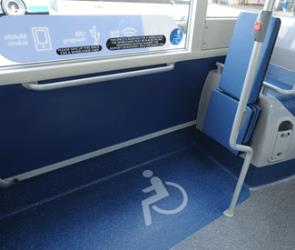 Arriva Sapphire bus with space for wheelchair