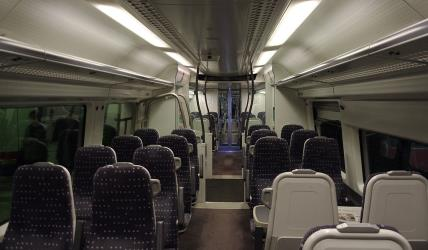 Stansted Express interior seating