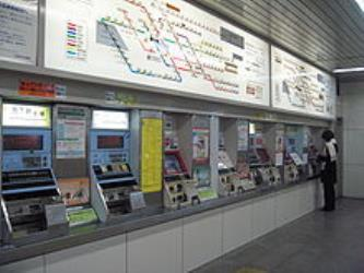 Ticket machines and fare maps