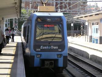 At Amara station, Donostia-San Sebastián.