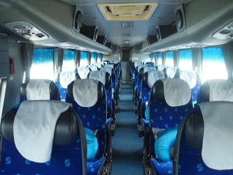 Express bus interior
