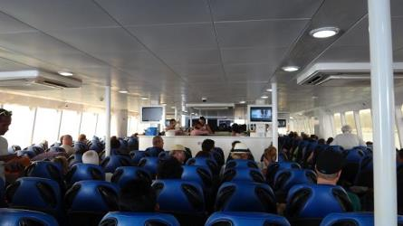 Interior of Lomprayah Ferry