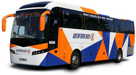 Bus side and front view