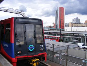 DLR train front view