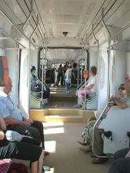Interior of tram on line 3