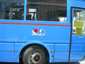 Bus with logo