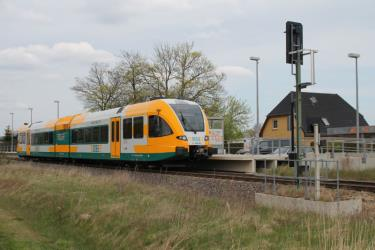 Stadler GTW on the line RB51 in Brandenburg