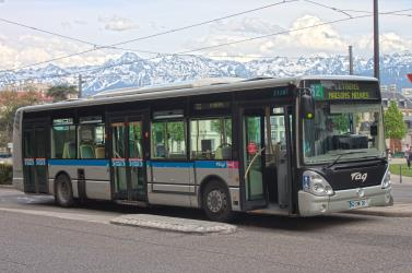 TAG Grenoble Bus Exterior