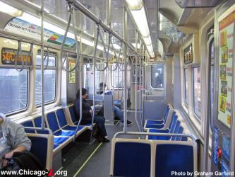 Interior of Chicago 'L'