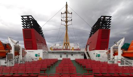 Deck of the MV Loch Seaforth
