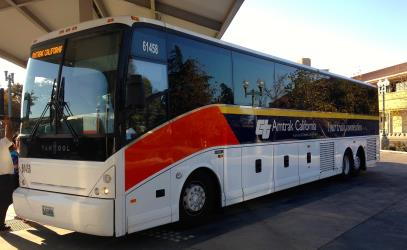 Amtrak connection bus