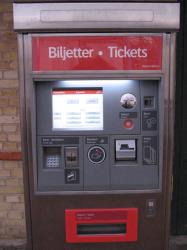 Skånetrafiken ticket machine
