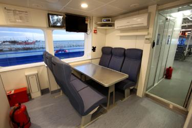 Interior of Liberty ferry