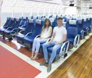 Seating on the fast ferry Ciudad de Ceuta