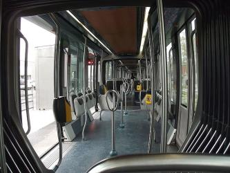 Interior of Bordeaux tram