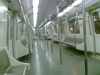 Interior of Delhi Metro