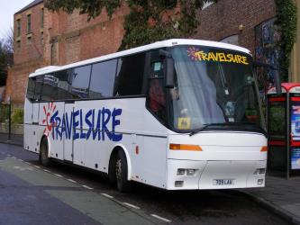 Travelsure White Bus Exterior