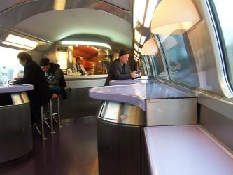 Buffet car - TGV from Paris to Barcelona