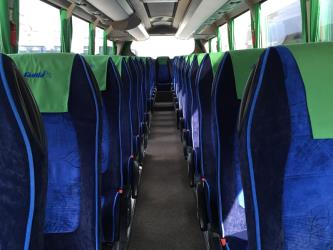 Interior of 55-seater bus