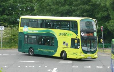 Green line double bus