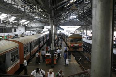 Trains at Dadar Station