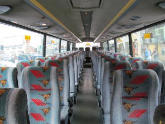 Interior of Bus Eireann