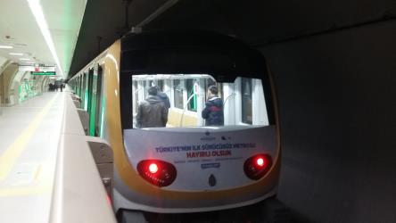 Uskudar-Cekmekoy Metro train