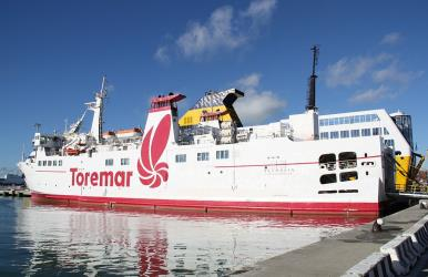 Toremar in port of Livorno