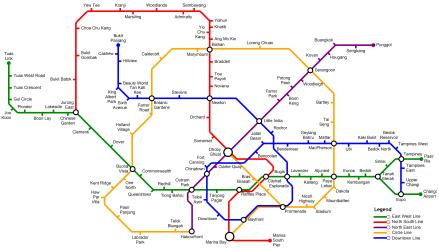 SMRT Rail Map