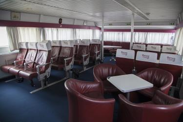 Interior seating on high speed ferry
