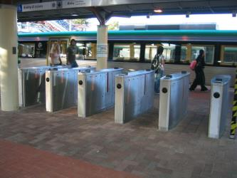 SmartRider fare gate at Perth Station