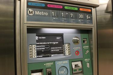 Los Angeles Metro ticket machine