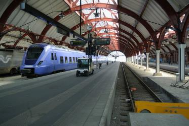 Train at at Malmö central station